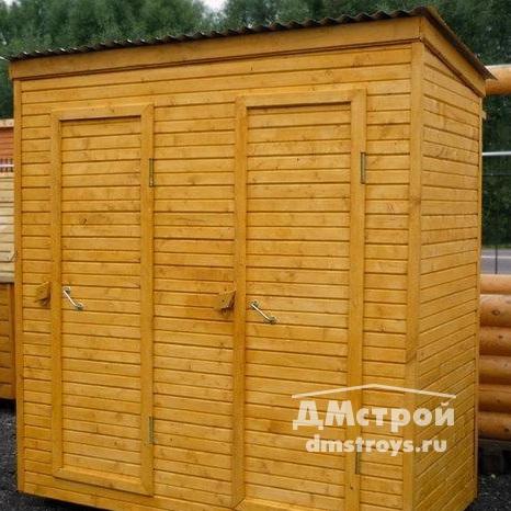 Хозблок деревянный 1х3 м с двумя дверями - цена: от 18000 руб.