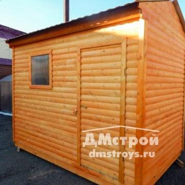 Хозблок деревянный 2х3 м с двухскатной крышей и окном - цена: от 28000 руб.