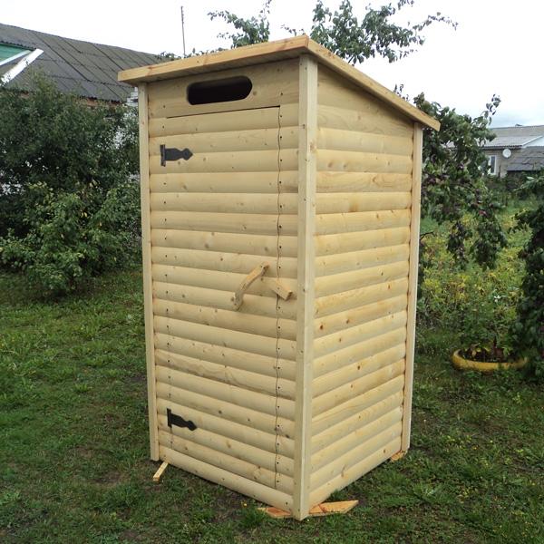Туалет дачный с односкатной крышей ДТ-1А