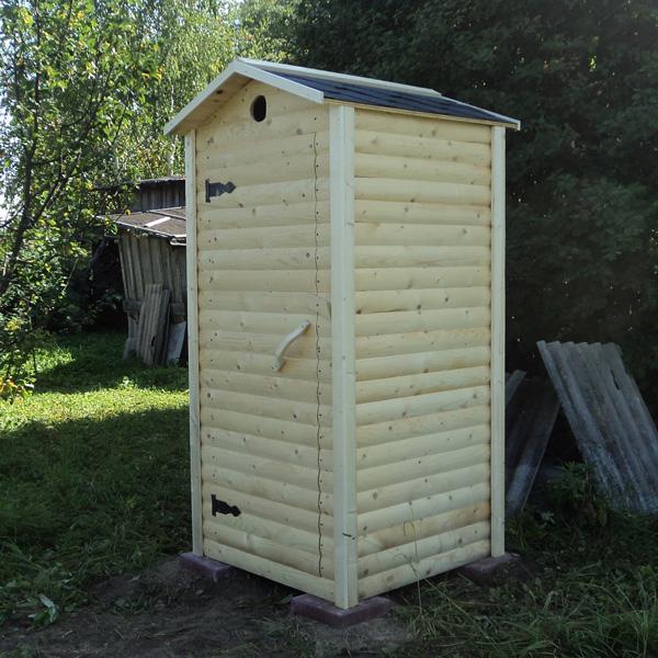 Туалет дачный с двухскатной крышей ДТ-2